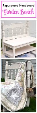 Bench Out Of Headboard Headboard Bench Ideas 25 Projects My Repurposed Life