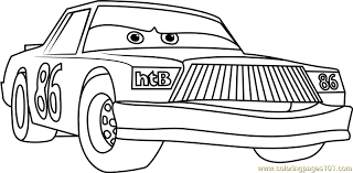 Small Picture Chick Hicks from Cars 3 Coloring Page Free Cars 3 Coloring Pages