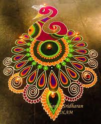 Diwali Rangoli Designs For Competition Peacock Pink Rangoli Designs Images Rangoli Designs