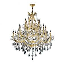 maria theresa collection 28 light gold finish crystal chandelier three 3 tier 38 d x