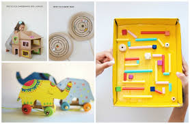 diy handmade toys from recyclable materials cardboard paper