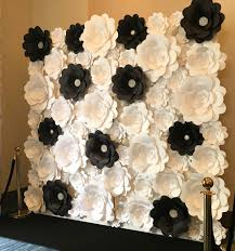 Paper Flower Backdrop Rental Black And White Paper Flower Wall Backdrop 52 Click On The