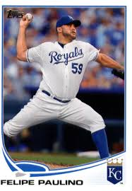 Amazon.com: Baseball MLB 2013 Topps #159 Felipe Paulino Royals:  Collectibles & Fine Art