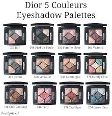 dior 5 couleurs eyeshadow palettes fall 2016 group
