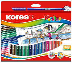 <b>Kores</b> Набор <b>фломастеров 20 цветов</b> 313359 — купить в ...