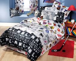 nhl hockey montage 3pc bed sheets set