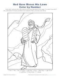 10 Commandments Coloring Pages Artigianelliinfo
