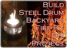 build steel drum backyard fire pit diy project