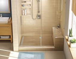 Kit: Redi Trench Left Drain Single Curb Shower Pan with Brushed Nickel  Designer Grate,