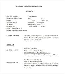 Customer Service Resume Template Free New 28 Customer Service Resume Templates PDF DOC Free Premium