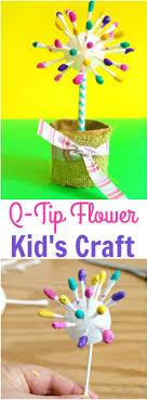 Easy Flower Crafts for Kids - Adorable Q-Tip Flower