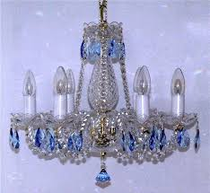 blue crystal chandelier far fetched interior colored glass chandeliers decorating ideas 8