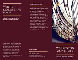 tri fold school brochure template customize 61 college brochure templates online canva