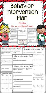 behavior intervention plan template behavior intervention plan editable forms and data sheets data