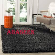 details about abaseen small extra large thick modern 5cm high pile plain soft dark grey rug