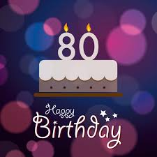royalty free 80th birthday backgrounds
