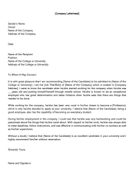 Letter Of Recommendation For Internship 013 Student Letter Of Recommendation Template College