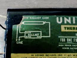 changing ballast single ft light old ballast magnatic graphic