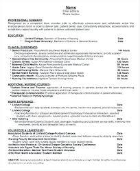 Nursing Graduate Resume Sample | Nfcnbarroom.com