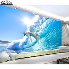 wave wallpaper for walls buy cool dolphin jumping in sea wall 3 d flooring  photo mural . wave wallpaper for walls ...