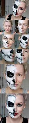 simple half skull glam make up tutorial by zoe newlove