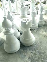 giant wooden chess set oversized fiberglass pieces outdoor wood big w fo