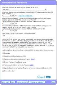 Fafsa Tutorial Parent Demographic Financial Info Edvisors