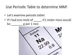 MOLAR MASS What is molar mass? How do you calculate molar mass ...