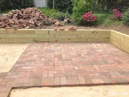 diy brick patio laying brick patio