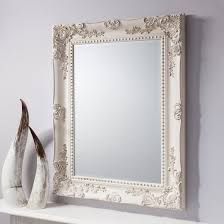 Buy Ornate Cream Wall Mirror Rustic Carved Baroque Vintage Mirror