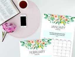 Desk Calendar Printable Free 2020 Desk Calendar Printable With Bible Verses To