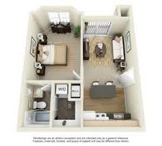 Small House Plans Sq FT  Small Home Plans Under Sq Ft     D House Floor Plans Bedroom Apartment