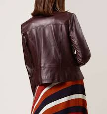 red laurelle biker casual jackets coats and jackets