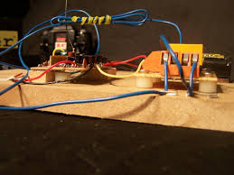tinkering an rc car 4 di tech dicoded use screws and mounting non metallic spacers to mount the rc control board and perf board to a piece of wood 1 wiring diagram