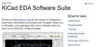 electrical tools list. intended for electrical engineering professionals, kicad is an eda software suite designed creating professional schematics and printed circuit boards tools list