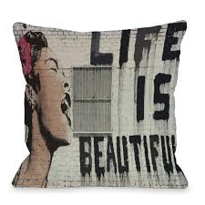 beautiful throw pillows. Fine Pillows Life Is Beautiful 16 In X Decorative Pillow Throughout Throw Pillows