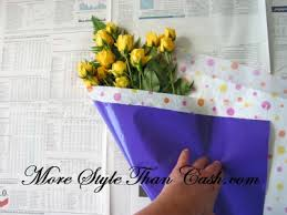 How To Wrap Flower Bouquet In Paper How To Wrap A Bouquet Of Flowers
