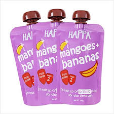 Happa <b>Organic Baby Food</b>, <b>Fruit</b> Puree (Mango+Banana) Stage 2, 6 ...