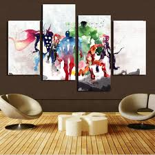 h cozy 4 piece the avengers modern art canvas wall paintings cuadros decorativos canvas prints on marvel spiderman canvas wall art 4 piece with marvel canvas amazon