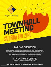Townhall Meeting Flyer Postermywall Poster Templates Flyer