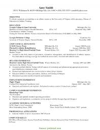 Good Training Manager Resume Objective Volleyball Resume Cover