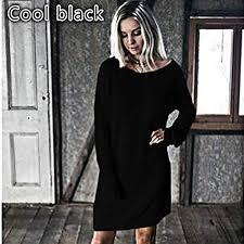 Buy wyfeay 2018 <b>Autumn Winter</b> Loose Dress Women Long Sleeve ...