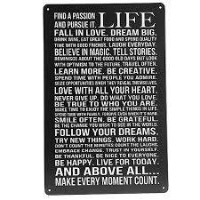 life poem tin sign vintage wall decor thanksgiving day gift