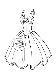 Small Picture Wedding dress coloring page for girls printable free coloing