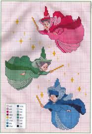 Free Disney Cross Stitch Charts Picture Only Disney Sleeping Beauty Fairies Cross Stitch
