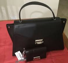 michael kors whitney medium leather satchel black and wallet