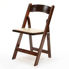brown wood padded chair