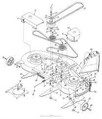 Mtd 13aj694h401 1997 parts diagram for deck assembly 46 blades rh jackssmallengines mtd 46 deck diagram mtd 46 inch deck belt diagram