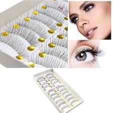details about 10pairs makeup handmade soft natural fashion long false eyelashes eye lashes new
