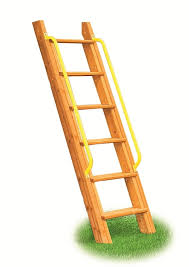 wooden step ladder for swing set